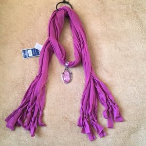 West Loop Pink Charm scarf New with tag
